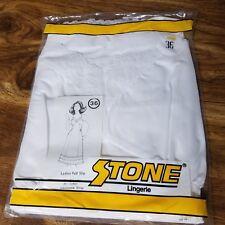 NEW Vintage STONE Ladies Full Slip White Lingerie Stonewear Apparel USA Size 36