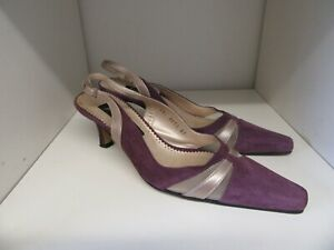 MOTHER OF THE BRIDE JACQUES VERT PURPLE SUEDE SHOES SIZE 37 - 4 WORN ONCE