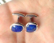 Charles Tyrwhitt sterling silver lapislazzuli cufflinks vintage
