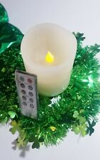 "Flameless LED Candle With Remote by Park Hill 4"" Real Wax 4 to 8 Hour Timer"