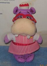 "DISNEY Store DOC MCSTUFFINS 8"" Nurse HALLIE Hippo Soft Doll Plush Toy Used"