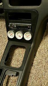 DASH FINISHER GAUGE POD Radio Bezel Shifter Bezel for 89-94 Nissan 240sx s13