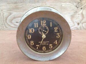1941 Mark I Deck Clock US Navy, Seth Thomas, Nickel-plate Housing