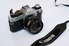 Canon AE-1 Program + 50mm 1.8 - V Good Condition + Filter - No 'Squeak'