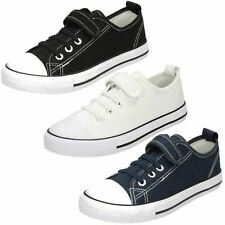 Unisex Boys Girls Spot On Casual Canvas Pumps / Trainers H2R445