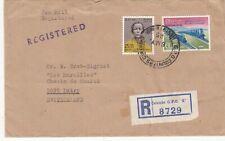 CEYLON 1965 REGISTERED SEA MAIL COVER TO SWITZERLAND. Rfno.C218.