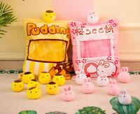 US Plush Stuffed Animal Imitation Snack Bag Cushion Toy Pillow with Little Dolls