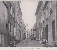 1901  --  CANADA    QUEBEC   PETITE RUE CHAMPLAIN  ANIMEE   3B067