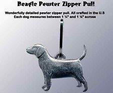 Pewter Dog Zipper Pull Beagle