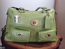 COACH LEGACY PEYTON Lime Green Leather handbag satchel  RARE LIMITED EDITION NWT