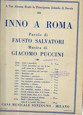 SC9 SPARTITO Inno a Roma Salvatori - Puccini