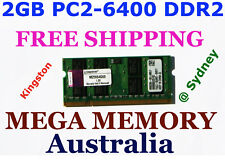 Kingston 2GB DDR2 PC2-6400 800MHz LAPTOP Memory PC2-5300 and PC2-4200 comaptible