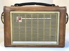 Old Vintage GE General Electric P-750A Leather Early Transistor AM Radio Works!