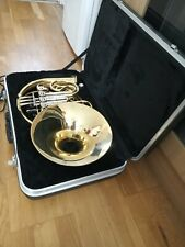 More details for double french horn: karl glaser, used with dent for parts or refurbishment