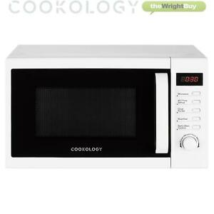 Cookology CFSDI20LWH Digital Microwave in White, 20L 800W Freestanding