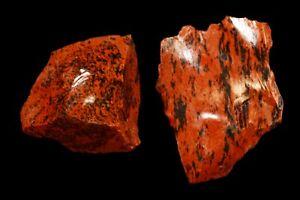 "Mahogany Obsidian 1 1/2"" 2 Pieces Natural Raw Rock Mineral Chakra Metaphysical"