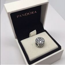 Authentic Pandora 925 Sterling Silver Charm RADIANT BLOOM Bead - 791762CZ