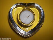 """Vintage Orrefors Art Glass HEART Candle Holder Signed Sticker 4.25"""""""