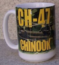 Coffee Mug Military Helicopter Ch-47 Chinook New 14 ounce cup with gift box