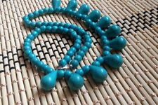 "Necklace 18 ""002 6mm Light Blue Turquoise"