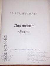 "Gesang und Klavier  "" Aus meinem Garten "" 1958 Mario del Monaco 16.3. 1958"