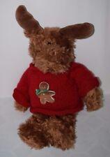 "GUND HUGS & KISSES GINGER MOOSE 21"" Gingerbread Man Sweater Plush #1077"