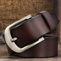Belt Genuine Leather 115cm-125cm Pin Buckle Waist Strap Men's Belts Waistband