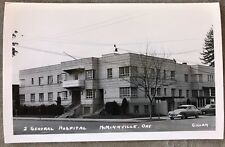 RPPC Oregon OR Mcminnville Old General Hospital Old Cars  C1930s