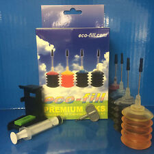 HP Envy 5644 e-All-in-One HP 62 HP62 BLK&CL INK CARTRIDGE REFILL KIT & TOOL
