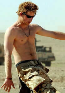 """Prince Harry UNSIGNED 10"""" x 8"""" photograph - D351 - TOPLESS!!!!"""