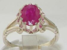 9 Carat Solitaire Ruby White Gold Fine Rings