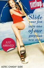 NIB FitFlop Women's Aztek Aztec Chada Slide Dress Sandals Size 7 M choose color