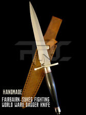 CUSTOM HANDMADE FAIRBAIRN SYKES FIGHTING WORLD WARII DAGGER KNIFE WITH SHEATH