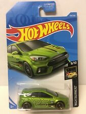 Hot Wheels Custom W/Real Riders Green Ford Focus RS