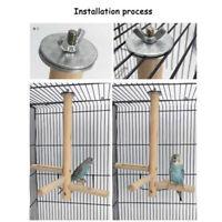 Wooden Parrot Bird Cage Perch Stand Platform Budgie Lovebird Climbing Hanging