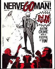 NERVE #1 1986  B&W ''GO MAN,INK DEMON'' -5 STORIES -BUSTIN' CRIME WIDENER/HOWARD