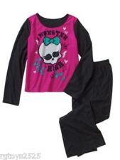 Monster High Pajamas Pets set 7-8 PJs Girls 2 Piece Flannel Sleepwear New