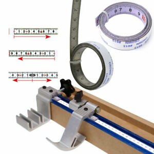 Metric Track Tape Measure Self Adhesive Stick on Ruler 1/2/3m Stainless Steel