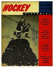 """Gordie Howe """"Mr Elbows"""" with milestone 545th puck on cover of Hockey Magazine"""