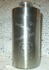 Stainless Steel Cat Kitty Treat Lidded Canister