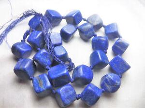 Super Quality 100% Natural Lapiz Lazuli Matte Finish Nuggets Beads Strand Afghan