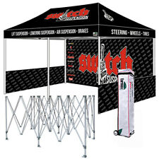 10x20 Printed Custom Printed Ez Pop Up Canopy Tent Trade Show Folding Booth Tent