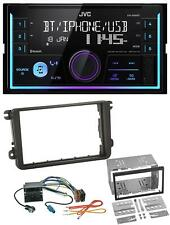 JVC AUX 2DIN USB MP3 Bluetooth Autoradio für VW Caddy Golf 5 6 Jetta ab 2003