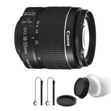 Canon EF-S 18-55mm f/3.5-5.6 IS II Lens + Rear & Front Cap Holder for Canon 700D