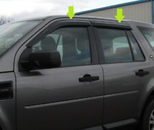 Window Wind/rain deflector tinted smoked 4 door kit Land Rover Freelander 2