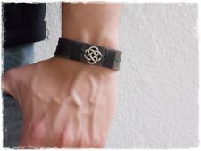 Dara Knot Celtic Leather Bracelet, Men's Leather Wristband