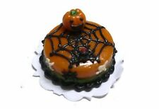 Halloween Cake Spider Pumpkin Dollhouse Miniatures Food Bakery Holiday Season 16