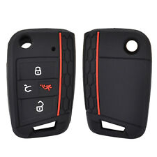 4 Button Silicone Key Cover Case Remote Fob Protector For VW Polo Golf 2017-
