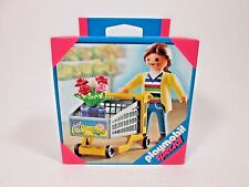 2009 Playmobil 4638 Special Mom Figure w/ Shopping Cart Flowers NEW  Sealed Box