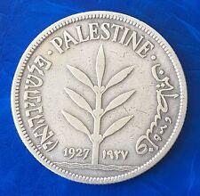 Israel Palestine British Mandate 100 Mils 1927 Silver Coin